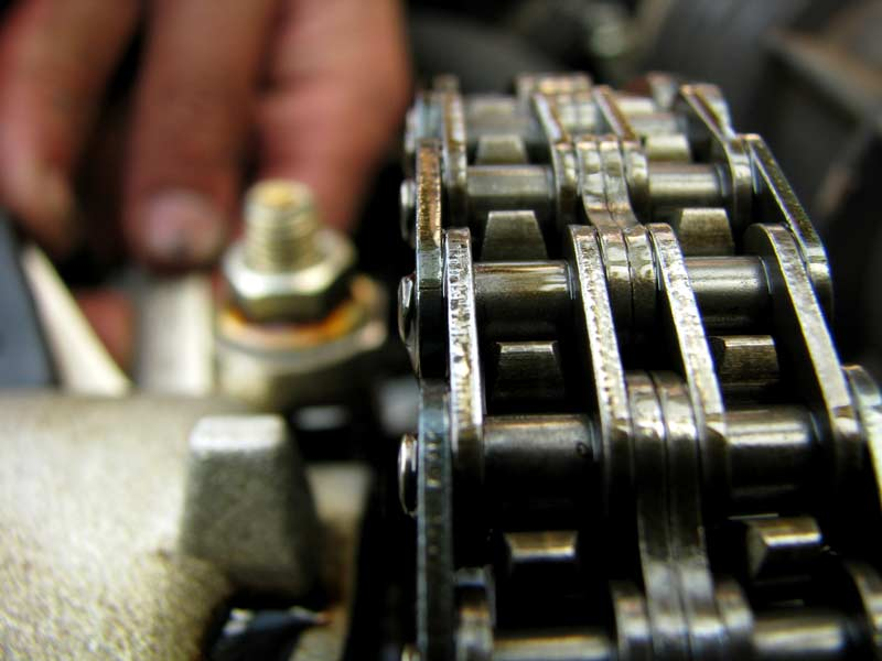 Troubleshooting roller chain wear