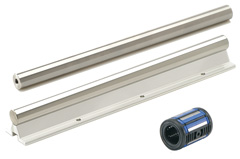 Linear bearings and shaft