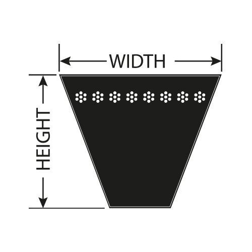 XPZ912 PROTORQUE denté wedge belt