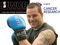 Simon prepares for the WCB Boxing event in aid of Cancer Research